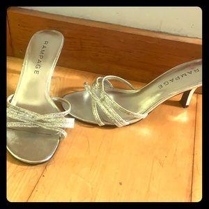 Silver rampage heels